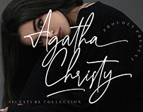 AGATHA CHRISTY SIGNATURE COLLECTION - FREE FONT