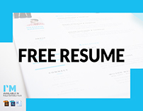FREE RESUME / CV in PHOTOSHOP + ILLUSTRATOR + MS WORD
