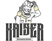 """""""KAISER"""" Barber Shop Logo"""