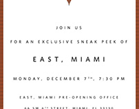 East Hotel Miami Invitation
