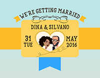 Dina & Silvano Wedding Invitation