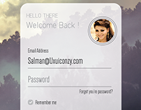 Login Layout Designed by Syed Salman Ahmed