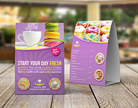 Cake Shop Table Tent Template