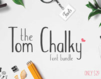 The Tom Chalky Bundle with 28 Fonts & More!