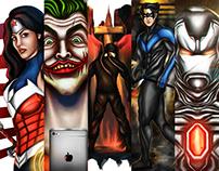 Superhero + A Villain Paintings   Summer 2015