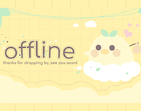Cute Twitch Overlay Designs Stream Package - Ducky 03