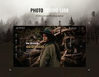 landing page design for Photo Studio 1308