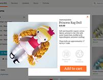 UI Design Challenge #8: Quick Shop Pop Up