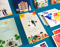 A Colorful Journey: Wedding Invitations
