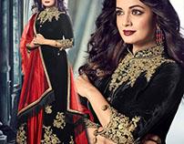Actress Dia Mirza Clad Straight Punjabi Suits By DNU