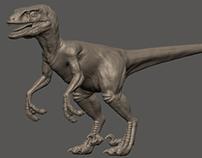 Raptor zbrush sculpture