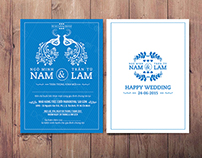 Wedding Invitation for Navy Color