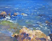 """""""Blue ocean"""" canvas, oil 20x15"""