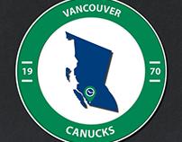 Minimalistic NHL Logos