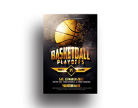 BasketBall Flyer Template - Adobe Photoshop