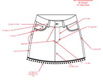Denim Skirt Tech Pack