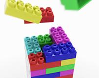 Toy building blocks animation