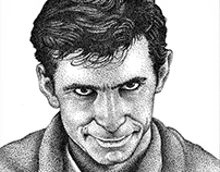 Norman Bates Illustration