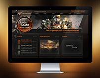 Game site design - CrossFire Spanish website