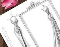 'Tara' - Wedding Dress Illustration