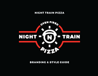 Night Train Pizza Branding