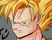 "Dragon ball Z ""Goku"" Art Print"