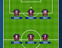 Mockup football squads