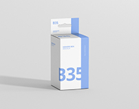 Box Mockup - Small Rectangle Size with Hanger