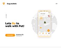 Mobile UX/UI Design. Dogletswalk. PRODUCTION