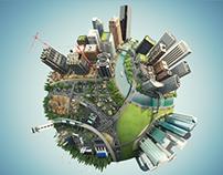 3D | Animation | Autodesk BIM Globe Animation Teaser