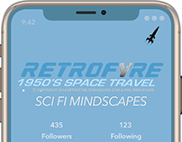 Mobile App Development for Retrofyre Apparel (Sketch)