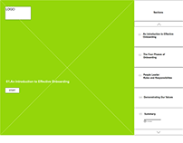 Wireframe/Mockup Effective Onboarding eLearning course