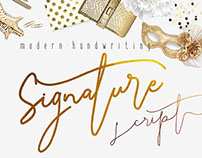 New Preview of Signature Script Typeface