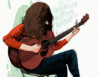 Kurt Vile Illustration