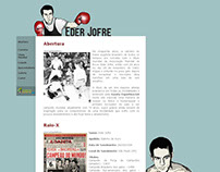 Hotsite em homenagem ao lutador Eder Jofre