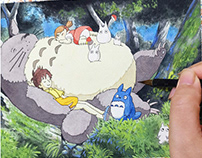 TOTORO watercolour painting