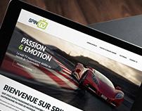 Spin TV - Website design