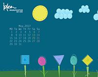 May's Calendar and Wallpaper