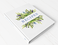 Recipes book watercolor cover