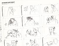 Interior Cafe Night: Reverse Storyboarding