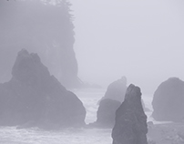 Into the Mist at Ruby Beach