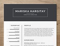 High End FREE Resume CV for Word + INDD