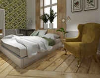 "Bedroom ""Golden green"""