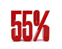 Red Discount 55 Percent