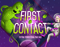 First Contact Beer Label