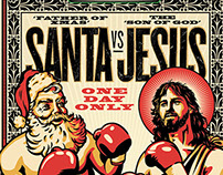 Santa vs Jesus | Illustration
