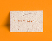 Silkscreened Handmade Paper Cards / Aris Sklavenitis