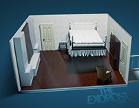 Horror Movie set: The exorcist room