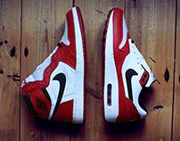 Nike Air Max 1 iD x Air Jordan 1 'Chicago'