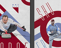 Olympic U.S. Men's Curling Retro Posters